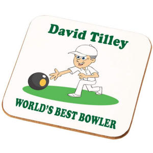 Personalised Bowling Coaster