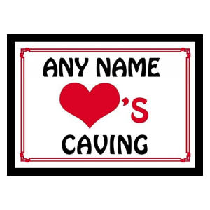 Personalised Caving Mouse Mat