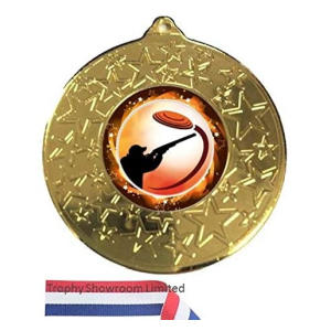 Personalised Clay Pigeon Gold Medal