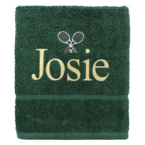 Personalised Embroidered Tennis Towel