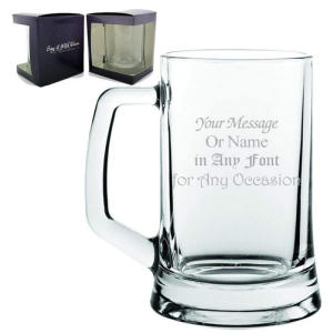 Personalised Engraved Beer Glass