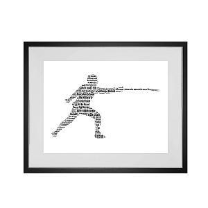 Personalised Fencing Word Art Print