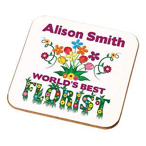 Personalised Florist Coaster