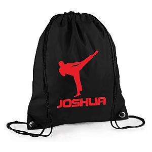 Personalised Karate Draw String Bag