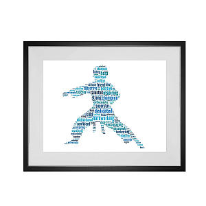 Personalised Karate Word Art Print