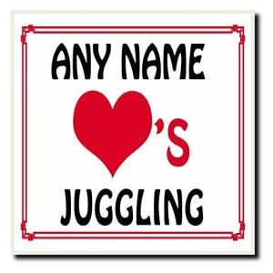 Personalised Name Juggling Coaster