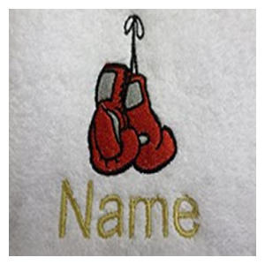 Personalised Named Boxing Gloves Towel