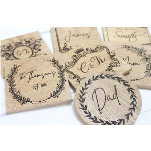 Personalised Family Oak Coasters