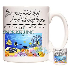 Personalised Snorkelling Mug