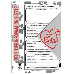 Pet Sitter Information Sheets