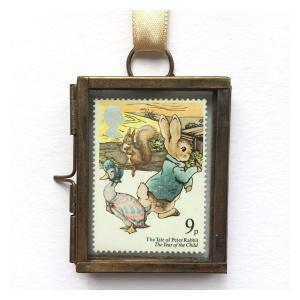 Peter Rabbit Framed Postage Stamp Gift Ornament