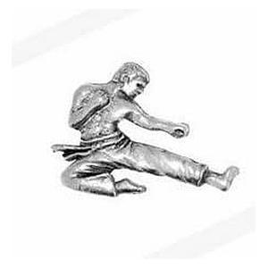 Pewter Karate Player Badge