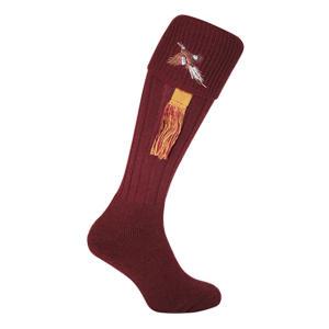 Pheasant Embroidered Shooting Socks