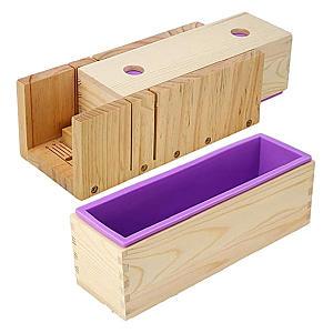 Pine Adjustable Wooden Soap Cutter Slicer