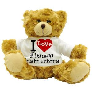I Love Fitness Instructors Teddy Bear