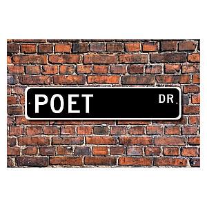 Poet Metal Wall Sign
