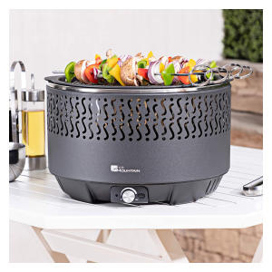 Portable Fan Assisted Charcoal Barbecue