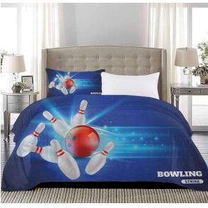 Bowling Strike Image Duvet Cover
