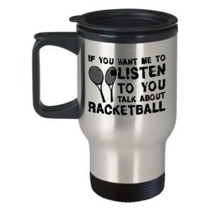 Racketball Travel Mug with Lid