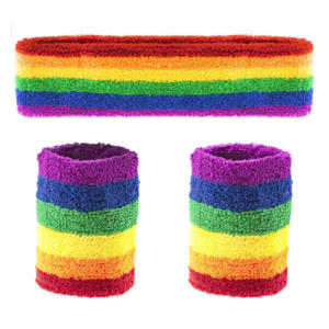 Rainbow Sports Headband and Sweatband