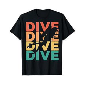 Retro Diving T Shirt