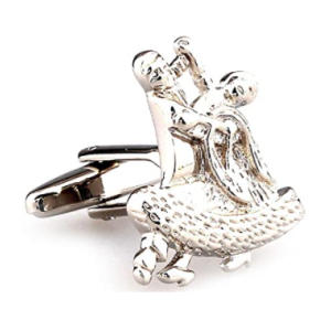 Salsa Dancing Couple Cufflinks