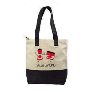 Salsa Dancing Shopping Bag