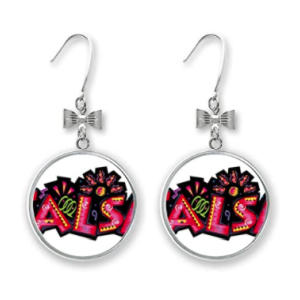 Salsa Slogan Bow Earrings