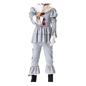 Scary Clown Deluxe Cosplay Costume