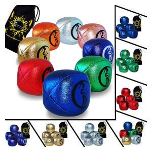 Set Of 5 Metallic Juggling Balls