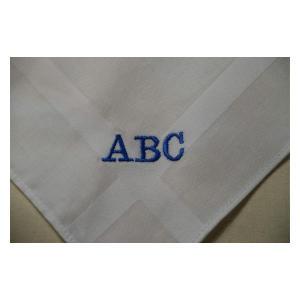 Set of 3 Embroidered Gents Handkerchief