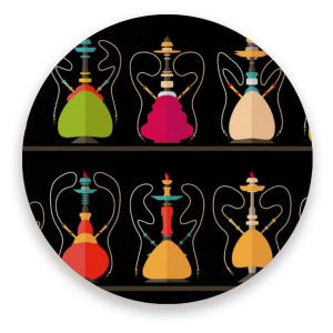 Set of Hookah Pattern Coasters