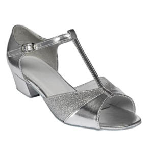 Ladies Silver Ballroom Dance Shoes