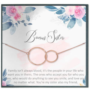 Bonus Sister Quote Necklace