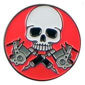 Skull & Tattooist Novelty Badge