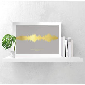 Personalised Favourite Song Sound Waves Print