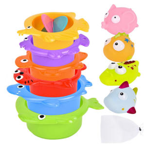 Baby Bath Toys Set, Stacking Cups