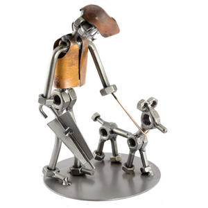 Me and My Dog Nuts and Bolts Sculpture