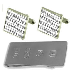 Sudoku Puzzle Cufflinks