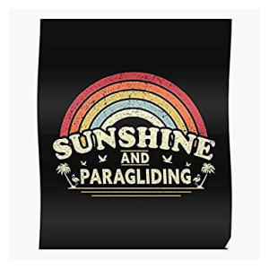 Sunshine And Paragliding Poster