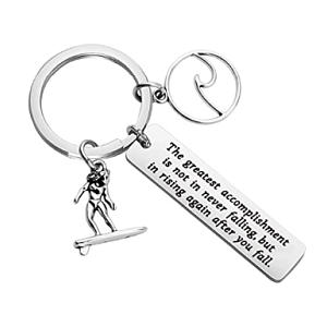 Surfer Key Ring