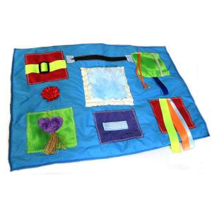 Blue Tactile Lap Blanket