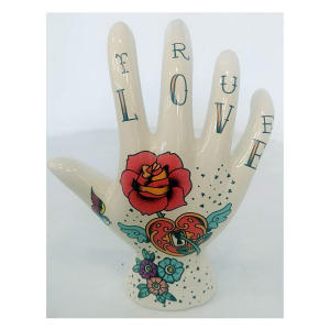 Tattoo Hand Jewellery Holder