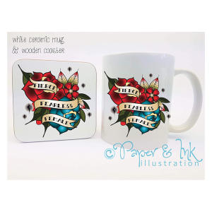 Tattoo Inspired Mug Coaster Set