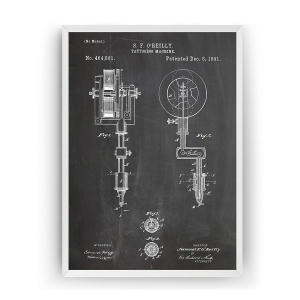 Tattoo Machine 1891 Patent Print