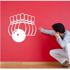 Ten Pin Bowling Wall Decal