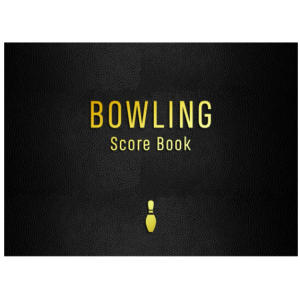 Ten Pin Bowling Score Tracking Notebook
