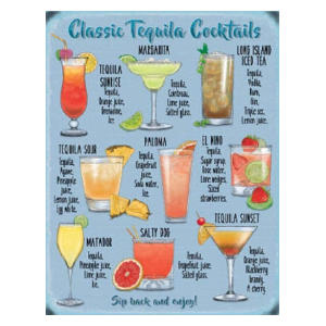 Tequila Recipe Metal Sign