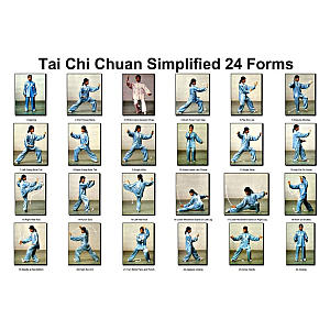 Thai Chi Chuan 24 Forms Poster