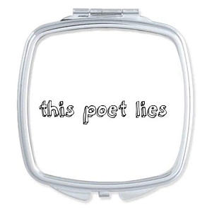 This Poet Lies Compact Mirror